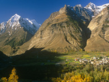 India, Himachal Pradesh, Lahaul, Near Keylong, Pattan Valley at Tandi Marks the Confluence of Chand Photographic Print by Amar Grover