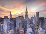 Midtown Skyline with Chrysler Building and Empire State Building, Manhattan, New York City, USA Lámina fotográfica por Jon Arnold