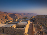 Israel, Dead Sea, Masada View of the Masada Plateau Photographic Print by Walter Bibikow
