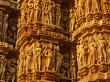 India, Madhya Pradesh, Khajuraho, Kandariya Mahadeva Temple famed for their Exuberant Sculpture, UN Photographic Print by Amar Grover