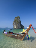 Longtailboot at Laem Phra Nang Beach, Krabi, Thailand Photographic Print by Katja Kreder