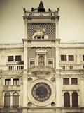 Torre Dell'Orologio (St Mark's Clocktower), Piazza San Marco, Venice, Italy Photographie par Jon Arnold