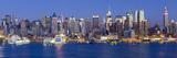Manhattan, View of Midtown Manhattan across the Hudson River, New York, USA Fotografisk tryk af Gavin Hellier