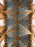 Poland, Cracow, the Ornately Decorated Vaulted Ceiling in the Church of St Mary, Market Square Stampa fotografica di Katie Garrod