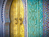 Royal Palace Door, Fes, Morocco Fotografisk tryk af Doug Pearson