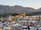 Moorish Alcazaba (Castle) and City Overview at Sunset, Antequera, Malaga Province, Andalusia, Spain Photographic Print by Doug Pearson