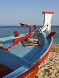 Traditional Fishing Boats, Algarve, Portugal Photographic Print by Katja Kreder