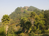 Malawi, Zomba, View from the Exotic Gardens of Ku Chawe Inn Towards Zomba Mountain Fotografisk tryk af John Warburton-lee
