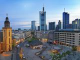Germany, Hessen, Frankfurt Am Main, City Skline with St.Katherines Church Photographic Print by Shaun Egan