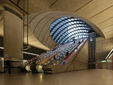 London Canary Wharf Tube Station as Part of the Jubilee Line Extension Was Designed by Norman Foste Photographic Print by David Bank