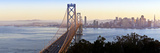 USA, California, San Francisco, City Skyline and Bay Bridge from Treasure Island Photographic Print by Gavin Hellier