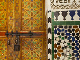 Interior Door Detail, Moulay Ismal Mousoleum, Medina, Meknes, Morocco Photographic Print by Doug Pearson