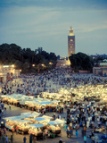 Morocco, Marrakech, Djemaa El-Fna Square Photographic Print by Michele Falzone