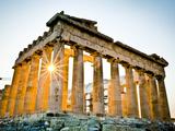 The Parthenon, Acropolis, Athens, Greece Fotografie-Druck von Doug Pearson