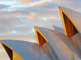 Australia, New South Wales, Sydney, Sydney Opera House, Close-Up at Sunrise Photographic Print by Shaun Egan