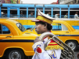 Member of a Music Band. Streets of Kolkata. India Photographic Print by Mauricio Abreu