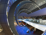 Stylish Modern Architecture of the 2010 Opened Terminal 3 of Dubai International Airport, Dubai, Un Photographic Print by Gavin Hellier