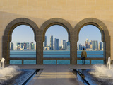 Qatar, Doha, Doha Skyline from Museum of Islamic Art Photographic Print by Alan Copson