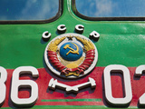 Russia, St Petersburg, Locomotives at the Railway Museum Photographic Print by Jane Sweeney