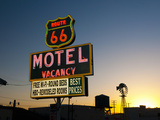 USA, California, Route 66, Barstow, Route 66 Motel Fotografisk tryk af Alan Copson