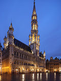 The Town Hall (French: Hôtel De Ville), of City of Brussels Is a Gothic Building from Middle Ages L Photographic Print by David Bank