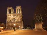 The Famous Cathedral of Notre Dame in Paris after the Rain, France Photographic Print by David Bank