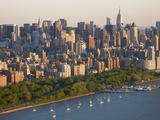 Midtown Mahattan and Hudson River, New York, USA Photographic Print by Peter Adams