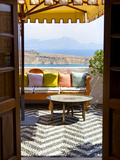 Hotel Interior Detail, Lindos, Rhodes, Greece Photographic Print by Doug Pearson