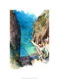 Marina de Praia - Amalfi Coast Premium Giclee Print by Bruce White