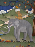 This Mural Is Common to Many Monasteries and Tells the Story of Co-Operation and Unity Amongst Budd Photographie par Nigel Pavitt