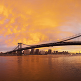 USA, New York City, Manhattan, Manhattan Bridge Spanning the East River Photographic Print by Gavin Hellier