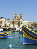 Traditional Fishing Boats, Marsaxlokk, Malta Photographic Print by Katja Kreder