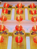 Singapore, Singapore City, Chinatown, Lanterns at Dusk Photographic Print by Shaun Egan