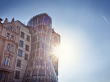 Europe, Czech Republic, Central Bohemia Region, Prague, the Swinging House or Dancing House by Rich Photographic Print by Francesco Iacobelli
