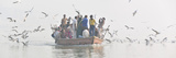 Pilgrims on the Ganges River, Varanasi, India Photographic Print by Mauricio Abreu