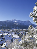 Cityscape of Garmisch-Partenkirchen, Werdenfelser Land, Bavaria, Germany Photographic Print by Katja Kreder