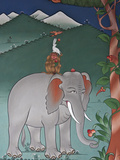 This Mural Is Common to Many Monasteries and Tells the Story of Co-Operation and Unity Amongst Budd Photographic Print by Nigel Pavitt