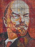 Russia, Black Sea Coast, Sochi, Riviera Park, Revolutionary Mosaic of Vladimir Lenin Photographic Print by Walter Bibikow
