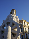 Seafarer's Monument, Ibiza Town, Ibiza, Balearic Islands, Spain Photographic Print by Neil Farrin