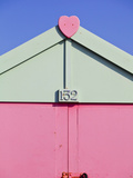 UK, England, Sussex, Hove, Beach Huts Photographic Print by Jane Sweeney