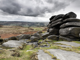 UK, England, Derbyshire, Peak District National Park, Higger Tor Towards Hathersage Photographic Print by Alan Copson
