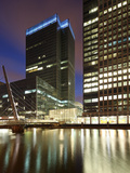 Canary Wharf, Major Business District in London, One of London's Two Main Financial Centres, Contai Photographic Print by David Bank