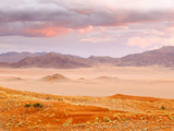 Sunset in the Namibrand Nature Reserve Located South of Sossusvlei, Namibia, Africa Fotografisk tryk af Nadia Isakova