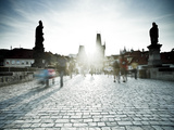 Charles Bridge, Prague, UNESCO World Heritage Site, Czech Republic Photographic Print by Gavin Hellier