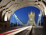 The Famous Tower Bridge over the River Thames in London Photographic Print by David Bank