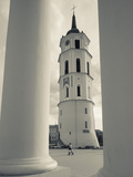 Lithuania, Vilnius, Old Town, Vilnius Cathedral Photographic Print by Walter Bibikow