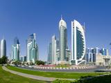 Qatar, Doha, Corniche, Sheraton Roundabout Photographic Print by Alan Copson