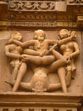 India, Madhya Pradesh, Khajuraho, Kandariya Mahadeva Temple at Khajuraho is Famed For Exuberant Scu Photographic Print by Amar Grover