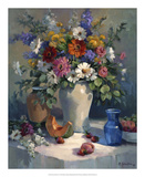 Fruit and Flowers Giclee Print by Maxine Johnston