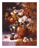 Mums and Persimmons Giclee Print by Maxine Johnston